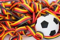 Fußball und Ausläufer Stockfoto