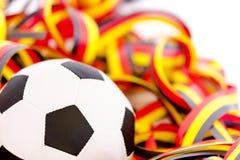 Fußball und Ausläufer Stockfotos