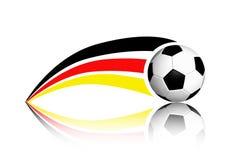 Fußball und Deutschland-Markierungsfahne Stockfotografie