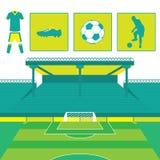 Fußball-und Fußball-Sport-Vektor Lizenzfreie Stockbilder