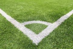 Fußball- und Fußballplatzgrasstadion Lizenzfreies Stockfoto