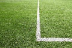 Fußball- und Fußballplatzgrasstadion Lizenzfreie Stockfotos