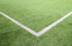 Fußball- und Fußballplatzgrasstadion Stockbilder