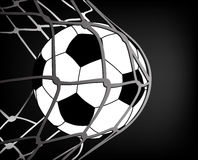 Fußball und Netz lizenzfreie stockfotografie