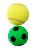 Fußball und Tennis Stockbilder