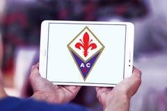 Fußball-Vereinlogo ACF Fiorentina Stockfotos