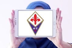 Fußball-Vereinlogo ACF Fiorentina Lizenzfreie Stockfotografie
