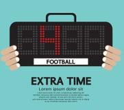 Fußball-Verlängerung. stock abbildung