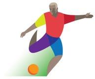 Fußball vorwärts Lizenzfreie Stockfotos