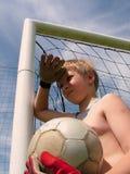 Fußball - wartend, um zu spielen stockfotografie