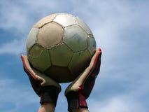 Fußball - wartend, um zu spielen Stockfoto