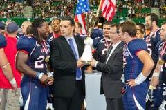Fußball WC 2011: USA gegen Kanada Stockbild