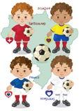 Fußball-Weltcup E Stockfotos