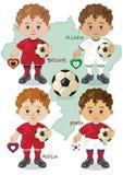Fußball-Weltcup H Stockbild