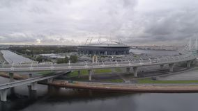 2018 Fußball-Weltmeisterschaft, Stadion Russlands, St Petersburg, St Petersburg, stock video footage