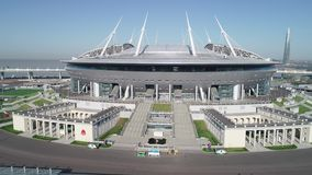 2018 Fußball-Weltmeisterschaft, Stadion Russlands, St Petersburg, St Petersburg stock video footage
