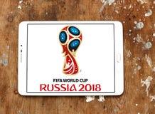 Fußball-Weltmeisterschafts-Russland-Logo 2018 Lizenzfreie Stockfotos