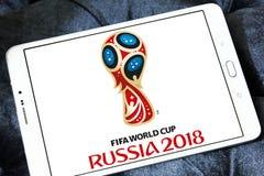 Fußball-Weltmeisterschafts-Russland-Logo 2018 Stockfotografie