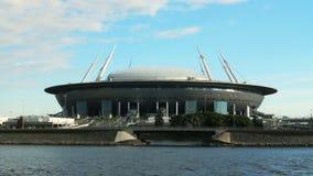 Fußball-Weltmeisterschafts-Stadion Krestovsky-Panorama 2018 Russlands St Petersburg stock footage