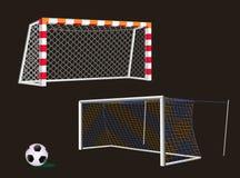 Fußball-Ziel mit Netz Stockfotos