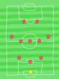 Fußballanordnung Lizenzfreie Stockbilder