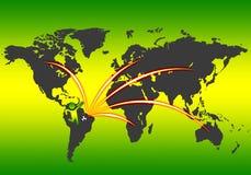 Fußballanschluß auf Welt Lizenzfreies Stockfoto