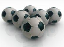 Fußballattribut Stockfoto