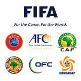 Fußballbündnisembleme stock abbildung