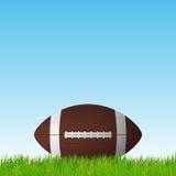 Fußballball auf einer Rasenfläche Lizenzfreies Stockfoto