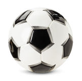 Fußballball lokalisiert auf dem weißen Hintergrund Lizenzfreie Stockfotos