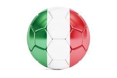Fußballball mit Flagge von Italien, Wiedergabe 3D Lizenzfreie Stockfotografie