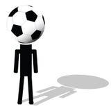 Fußballball wie gehabt von der Spielerillustration Lizenzfreie Stockfotos