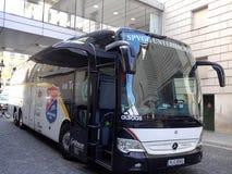 Fußballbus Stockfotos