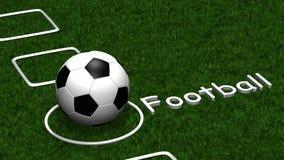Fußballcheckliste Stockfoto