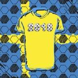 Fußballcup 2018 Russlands Schweden Lizenzfreies Stockbild
