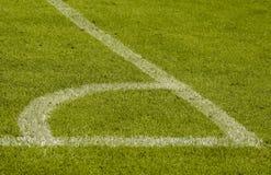Fußballeckmarkierung Stockbild