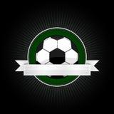 Fußballemblem lizenzfreie stockbilder
