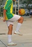 Fußballfähigkeiten stockbild