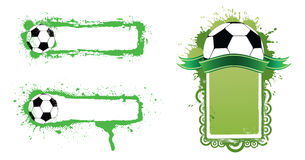 Fußballfahne Lizenzfreies Stockbild