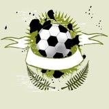 Fußballfahne Stockfotografie