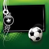 Fußballfahne Lizenzfreie Abbildung