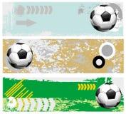 Fußballfahnen eingestellt Lizenzfreie Stockfotografie