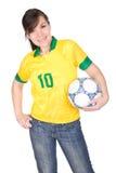 Fußballfan lizenzfreie stockbilder