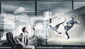 Fußballfan Lizenzfreie Stockfotos