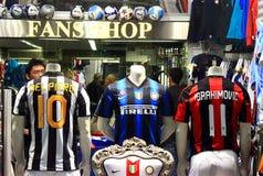 Fußballfan-System Stockfotografie