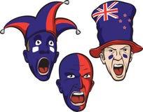 Fußballfane von Neuseeland stock abbildung