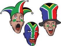 Fußballfane von Südafrika Lizenzfreies Stockfoto