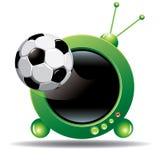 Fußballfernsehapparat Lizenzfreies Stockfoto