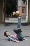 Fußballfreistil Stockfotografie