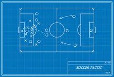 Fußballfreistoß auf Plan Stockbilder